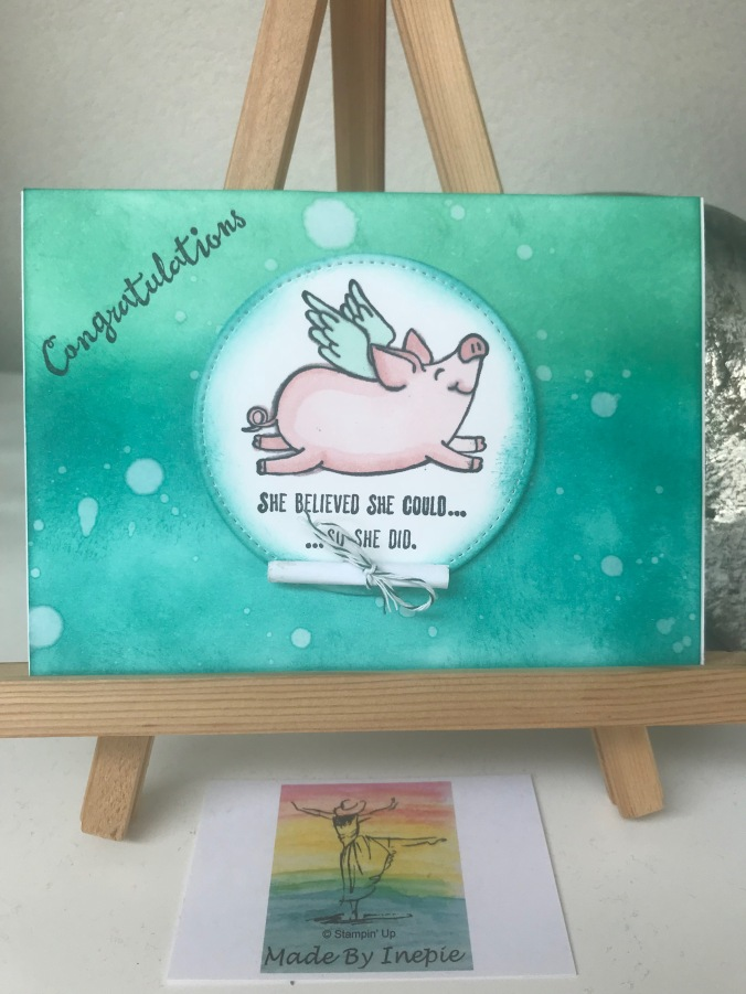 Stampin'Up! This little Piggy Graduation