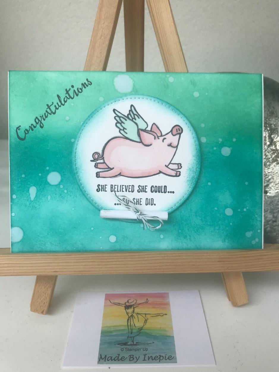 Stampin'Up! This little Piggy Graduation