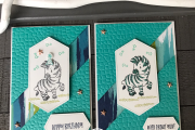 Triangle Spli Card Design Stampin' Up! Zany Zebras